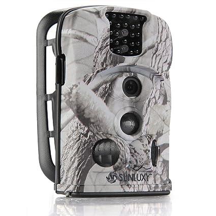 SUNLUXY® 8210A 12MP Impermeable Cámara de caza deporte cazadora Vigilancia Seguridad IR-Cut LCD