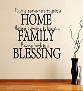 Living Room Wall Sticker - Having Somewhere to Go is a Home Family Blessing,Wall Decals