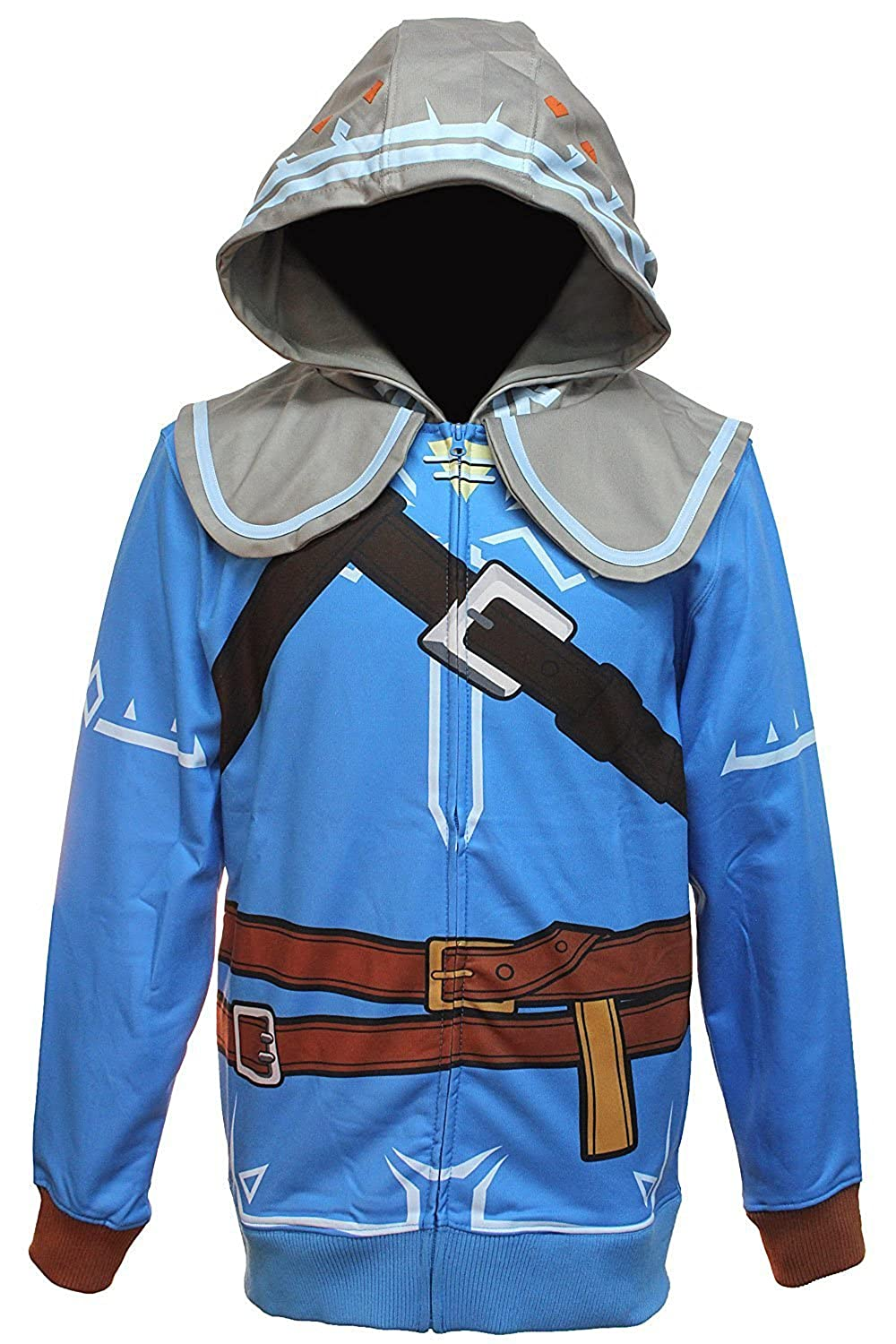Legend of Zelda Breath of the Wild Suit Up Men's Cosplay Hoodie, Large BioWorld