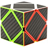 Twister.CK Skewb Speed Cube with Carbon Fiber Sticker, Oblique Twist Magic Cube Puzzle Brain Teasers for Cube Enthusiasts, Children Gift for Intelligence Development