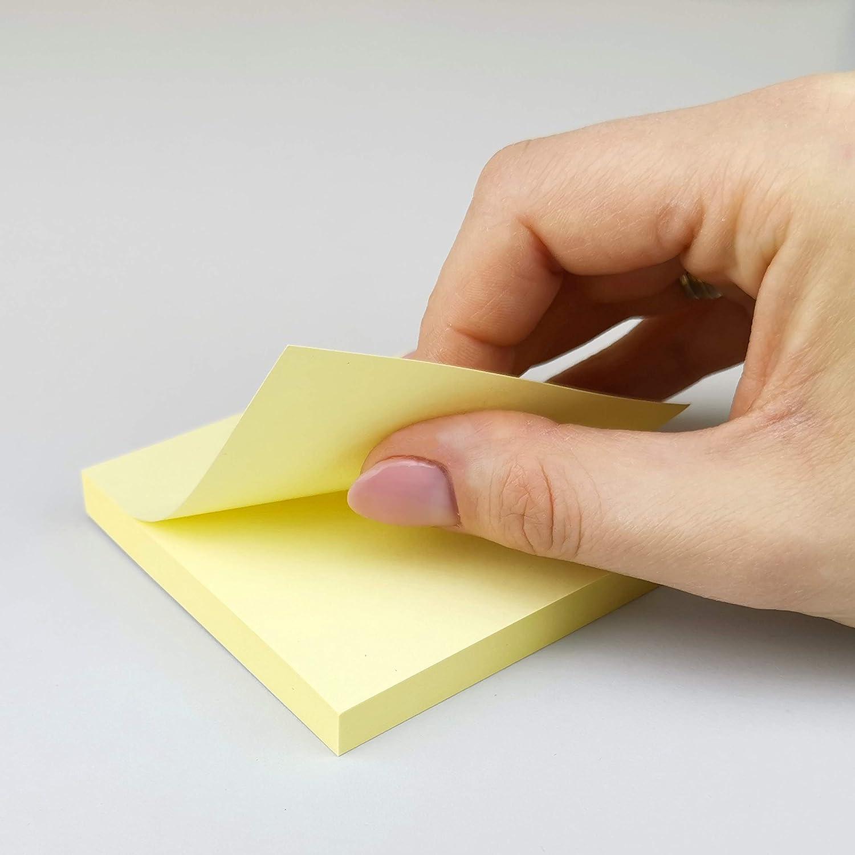 Foglietti adesivi per appunti giallo D.RECT Sticky Notes 76 x 76 mm