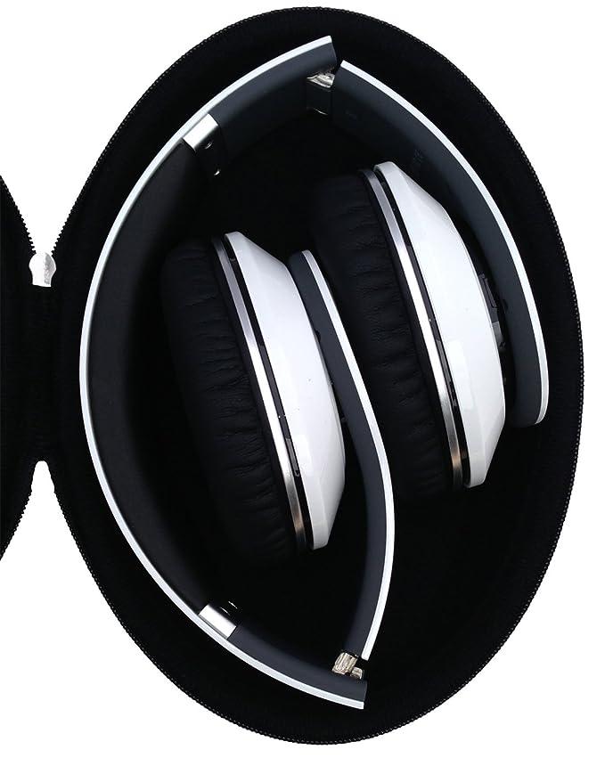 facda440757 Amazon.com: CASEBUDi Oval Hard Shell Headphone Carrying Case | for Beats  and Similar Folding Headphones | Black Ballistic Nylon: Home Audio & Theater