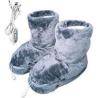DFYR Aquecedor de pés luxuoso, sapatos de aquecimento elétrico de aquecimento rápido com 3 configurações de temporização…