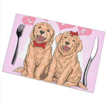 Compra Aeykis Pink Love Golden Retriever Alfombrilla de Cocina a ...