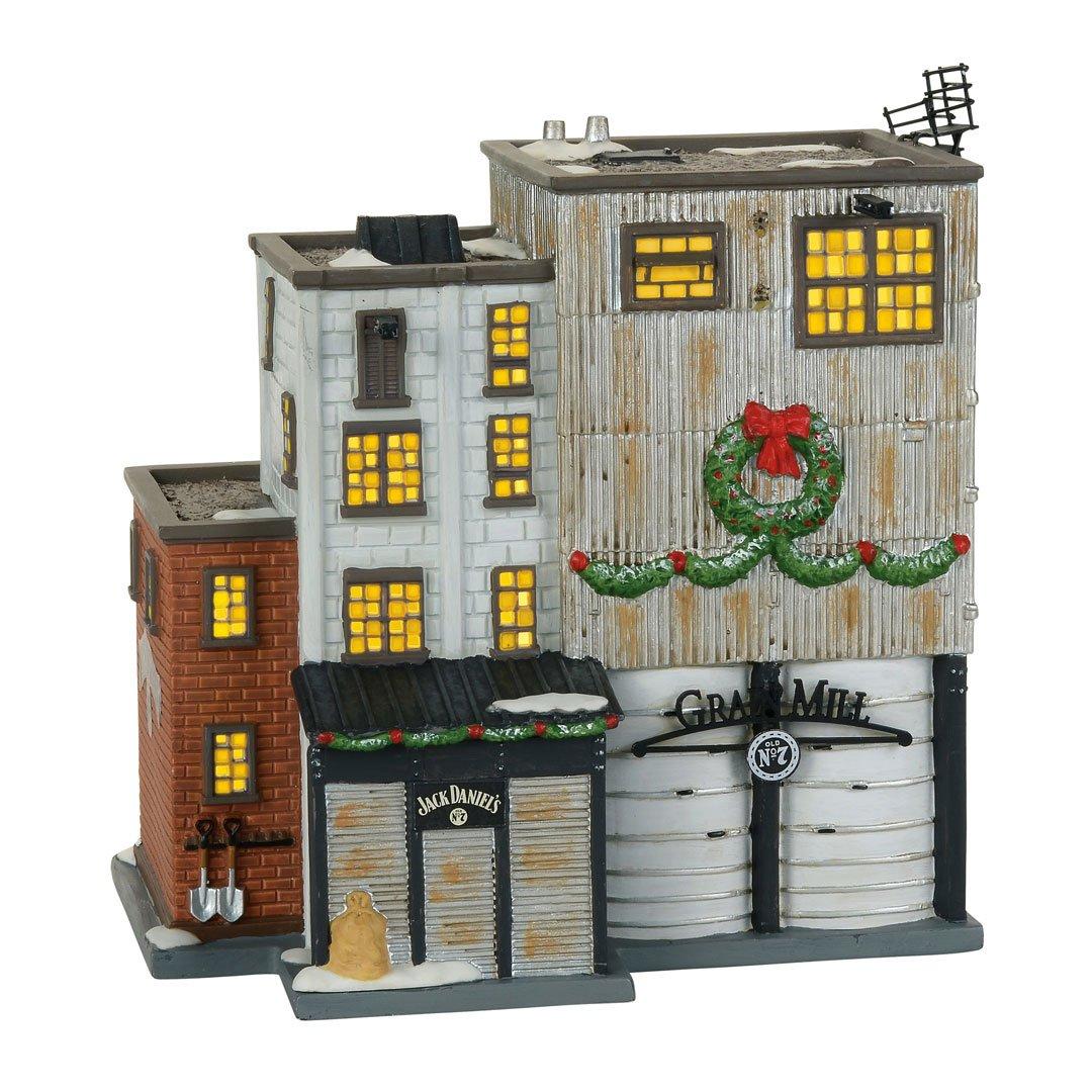 Department 56 Jack Daniel's Grain Mill Village Lit Building, Multicolored