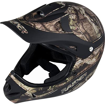 Raider Ambush Mossy Oak Unisex-Adult MX Off-Road Helmet (Break-Up Infinity Camo, Small): Automotive