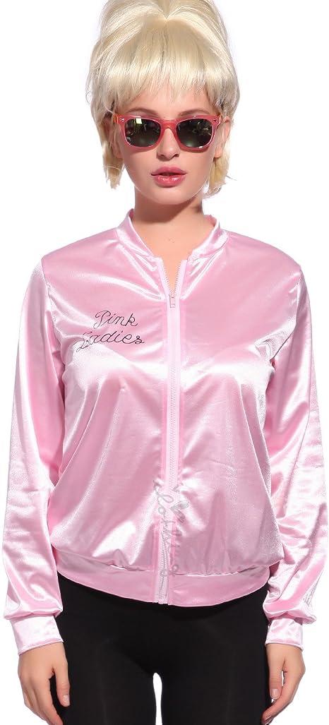 Anladia - Disfraz de Pink Lady Pink Lady Chaqueta Pink Lady Jacket ...