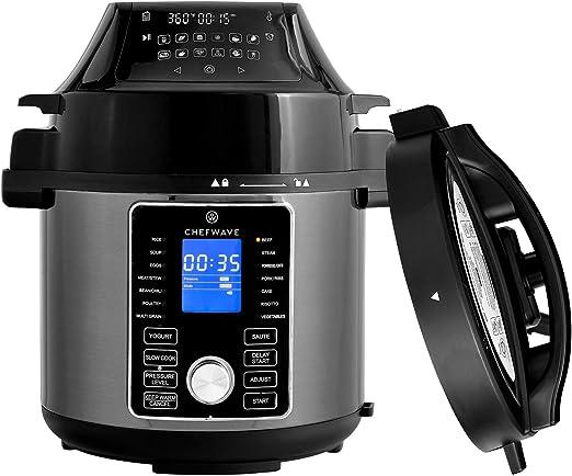Amazon.com: ChefWave 2 en 1 freidora de aire y olla a ...