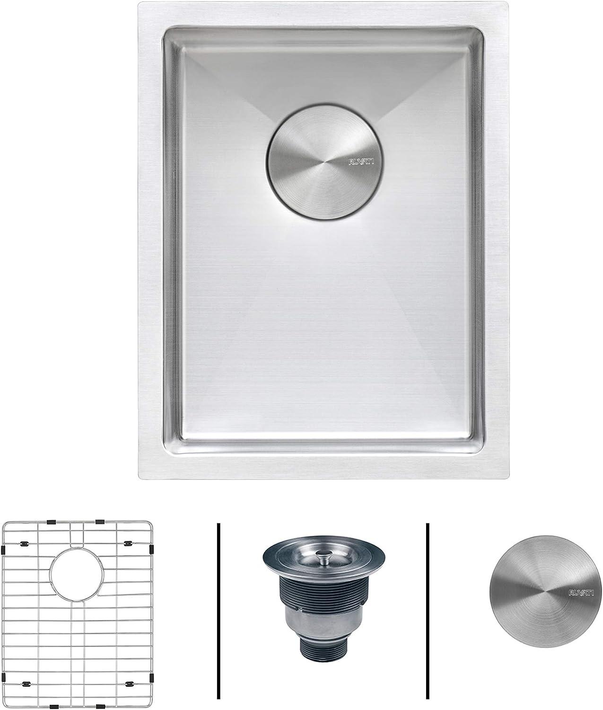 Ruvati 16 x 18 inch Undermount Bar Prep Tight Raduis 16 Gauge Kitchen Sink Stainless Steel Single Bowl - RVH7116