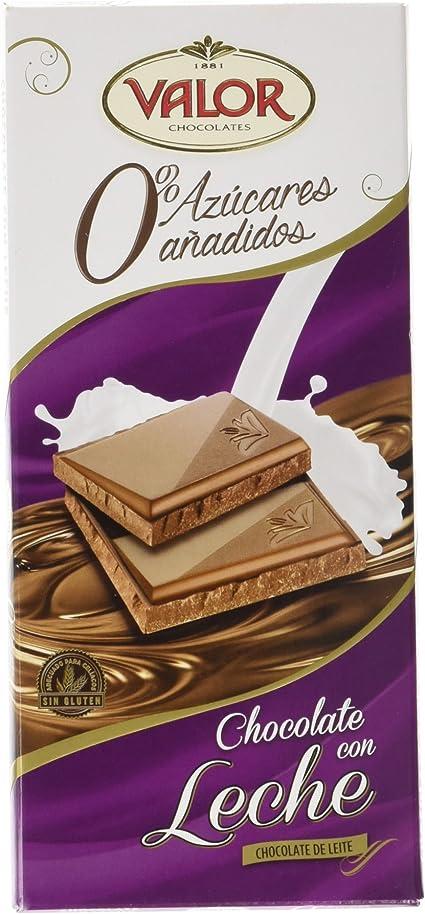 Chocolates Valor - Chocolate leche sin azúcares - 125 g: Amazon.es: Alimentación y bebidas