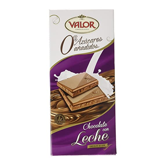 Chocolates Valor - Chocolate leche sin azúcares - 125 g