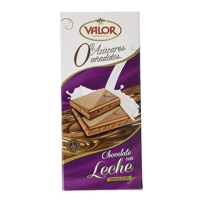 Chocolates Valor - Chocolate leche sin azúcares - 125 g