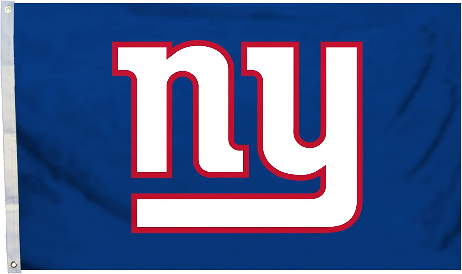 Fremont Die NFL New York Giants 3' x 5' Flag with Grommets, 3 x 5-Foot, Logo