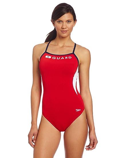 87170c1cc9992 Amazon.com   Speedo Women s Guard Energy Back   Athletic One Piece ...