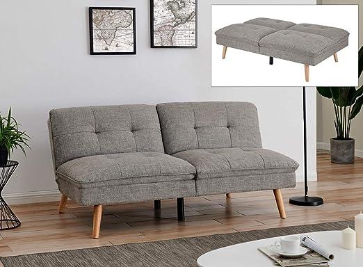 Möbel Deco Sofa Skandinavisches Design Stoff Grau Amazon