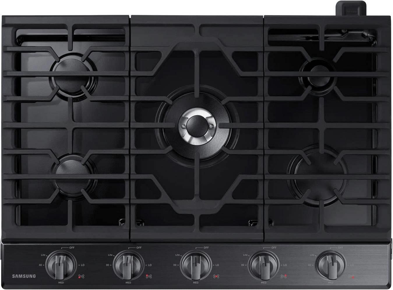 "Samsung 30"" Black Stainless Steel Gas Cooktop"