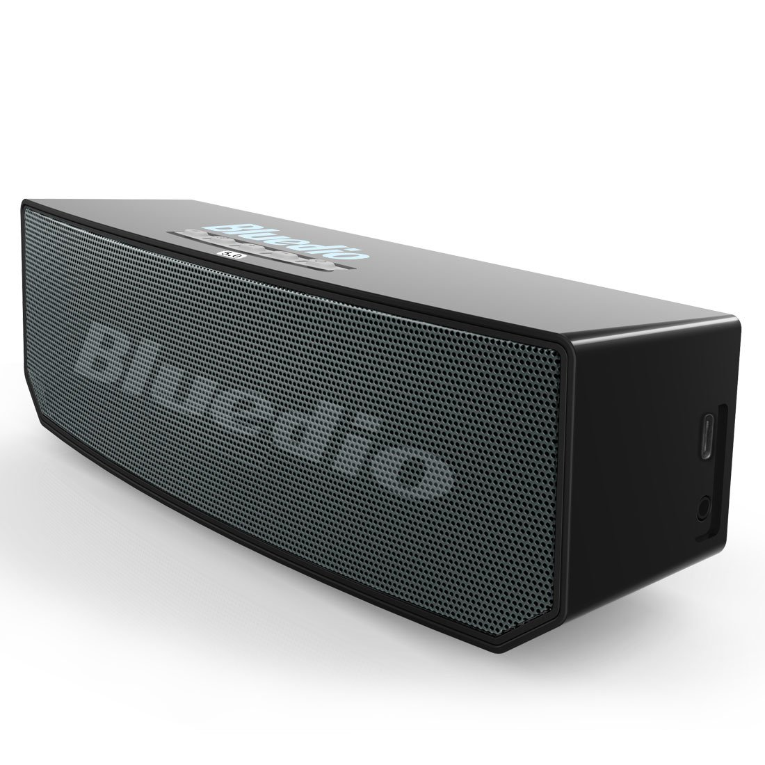 Bluedio BS-6 (Camel) Portable Bluetooth Wireless Speakers Stereo Soundbar with Mic for Phones & Music Home Gift (Black)