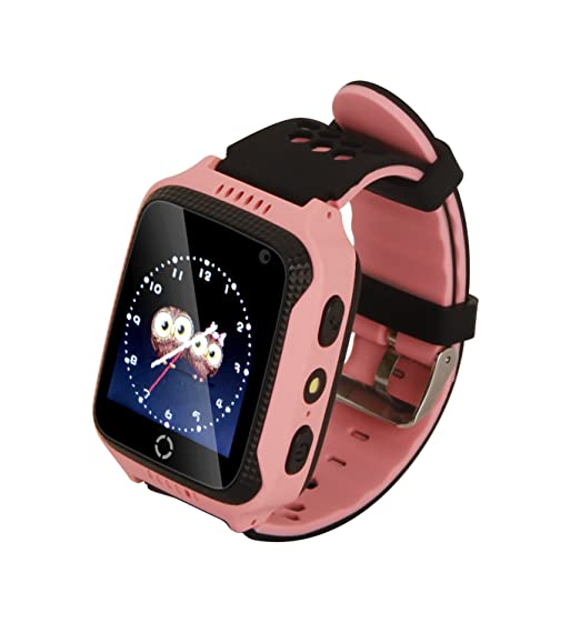 Hangang Reloj para Niños Pantalla Táctil Reloj GPS Niñas con GPS Pantalla Táctil Cámara SIM Llamadas