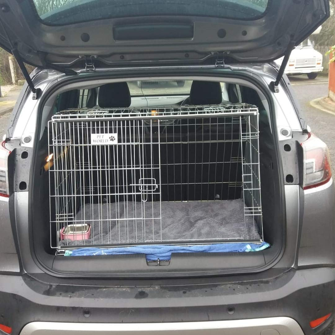 Pet World UK VAUXHALL CROSSLAND 2018 DOG CAGE SLOPED FRONT GUARD PUPPY CRATE CARRIER
