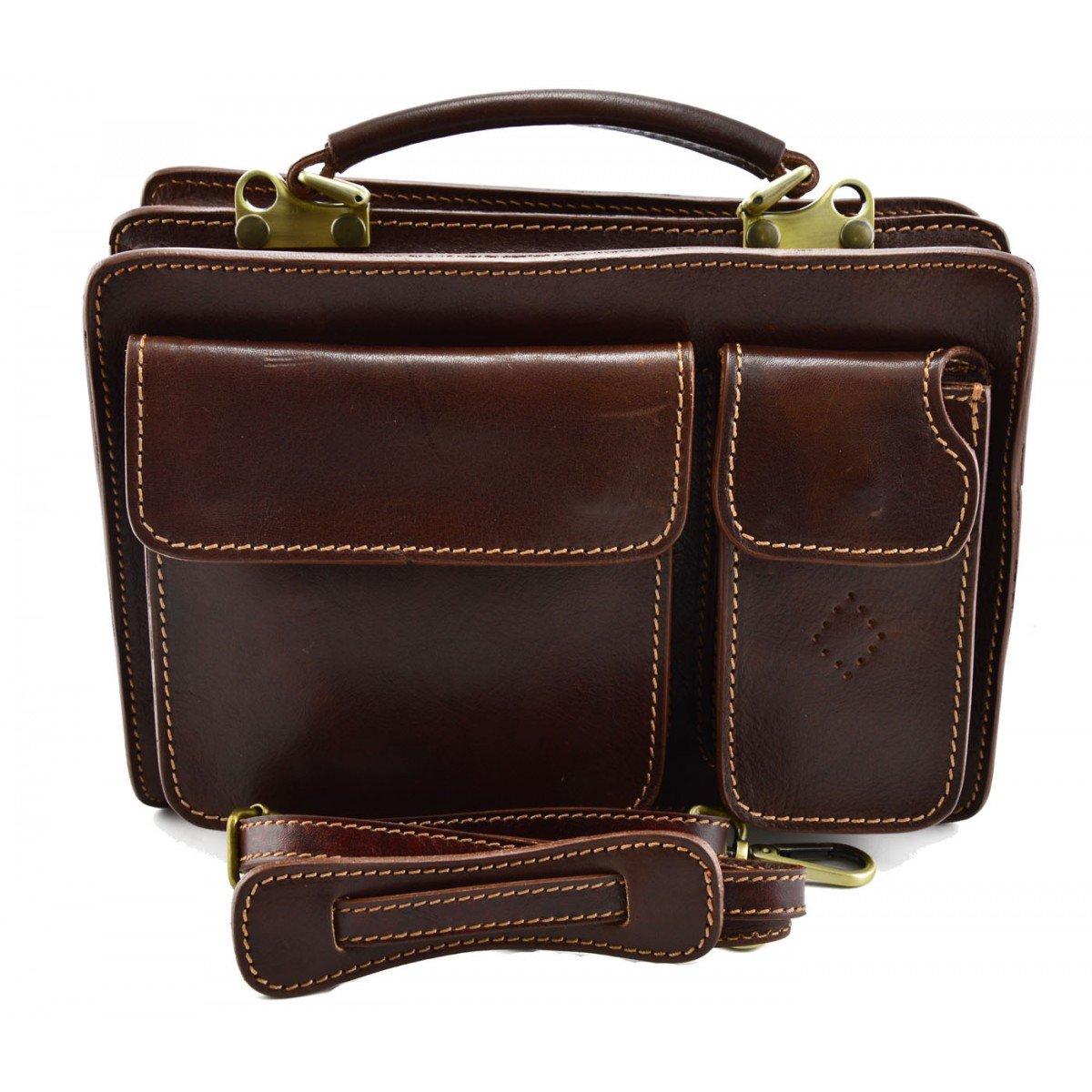 Made In Italy Genuine Genuine Leather Business Bag Brown Mod. Mini Bag Color Brown - Business Bag B01N4V4FEO, メンズワイシャツ専門店サルトリア:4672bc2e --- forums.joybit.com