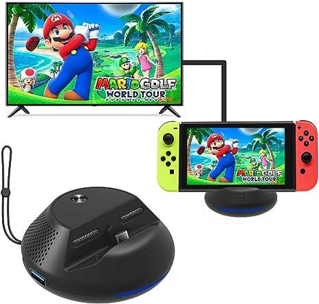 Base de TV de Carga portátil para Nintendo Switch Mini Dock de ...