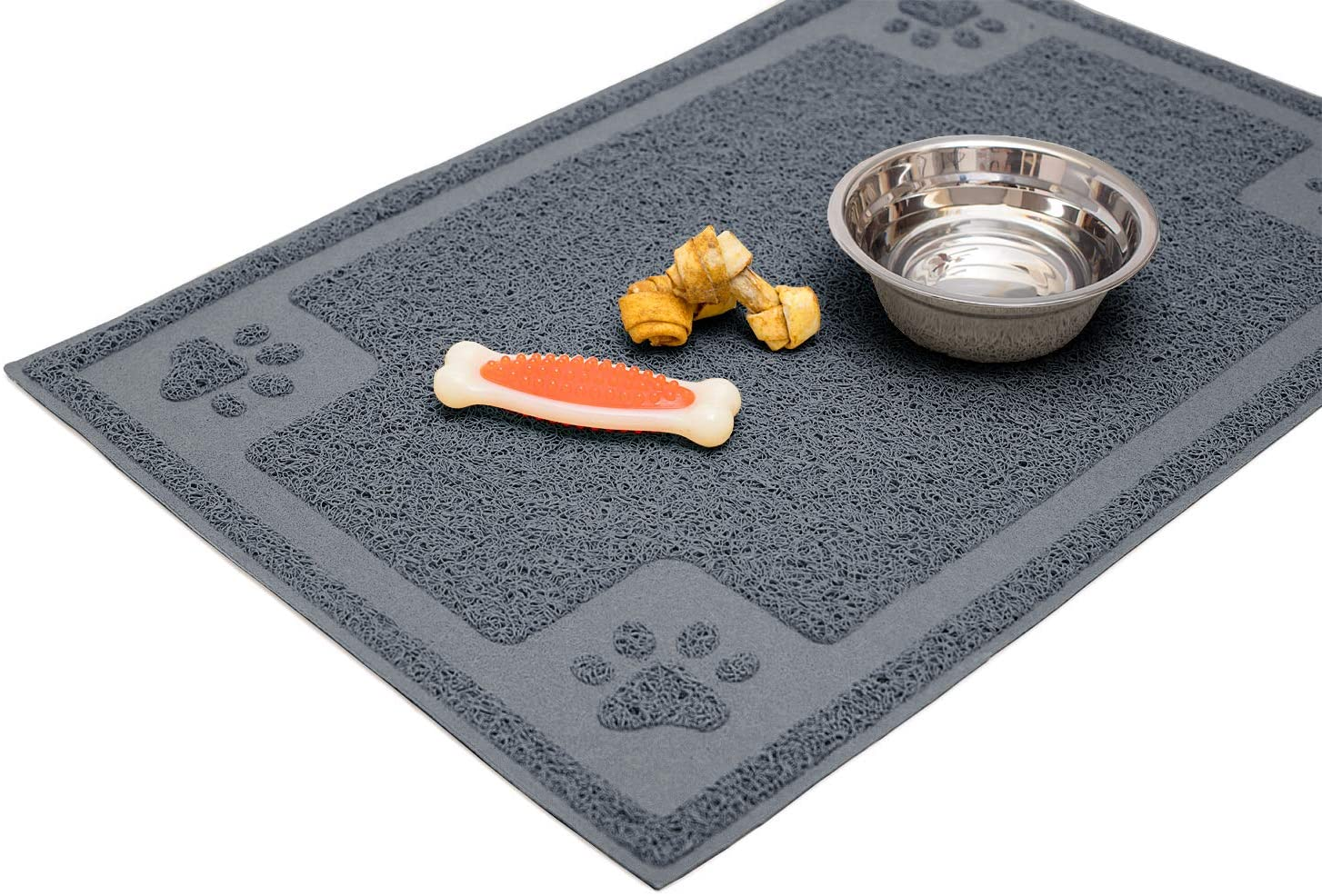 Cavalier Pets, Dog Bowl Mat for Cat and Dog Bowls, Silicone Non-Slip Absorbent Waterproof Dog Food Mat, Easy to Clean, Unique Paw Design
