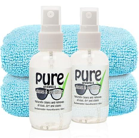 Kit de limpieza de lentes de gafas de sol – 2 prácticos botellas de 60 ml