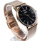 [Nikkowatch]レディース時計 シンプル 日本製クオーツ 高級感腕時計 メッシュベルト 3気圧防水