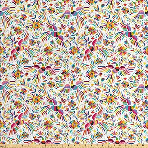 [해외]Ambesonne 디지털 프린트 멀티 컬러 패브릭 The Yard 제작 / Ambesonne 디지털 프린트 멀티 컬러 패브릭 The Yard 제작