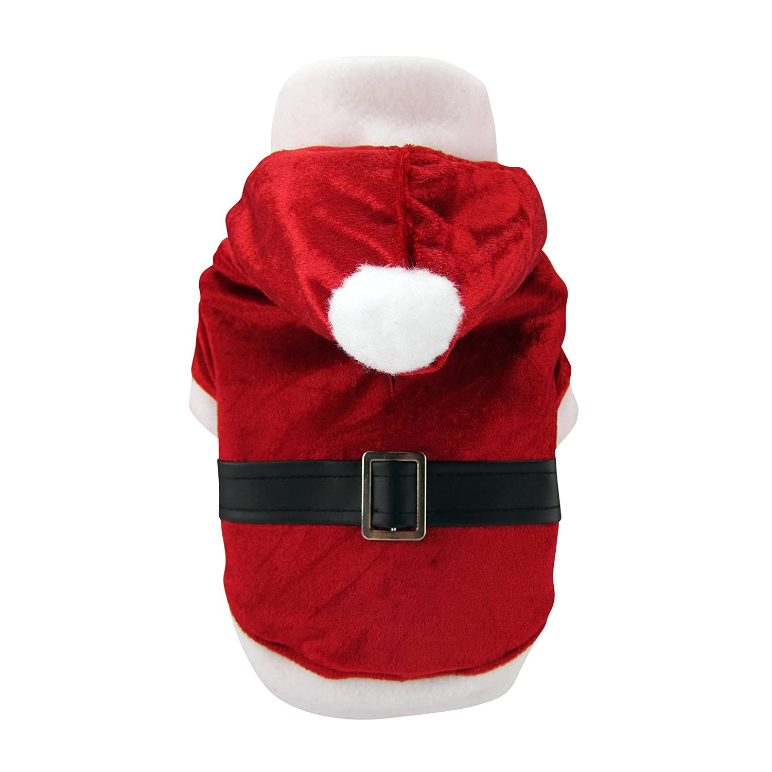 FouFou Dog Holiday Reversible Santa and Reindeer Suit, X-Large