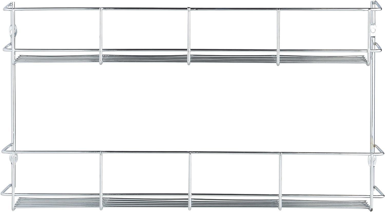 VonShef Porte-/épices//Etag/ère /à /épices 1 Niveau sur Mur ou Porte de Placard Montage Facile 6 x 41 x 6.2 cm