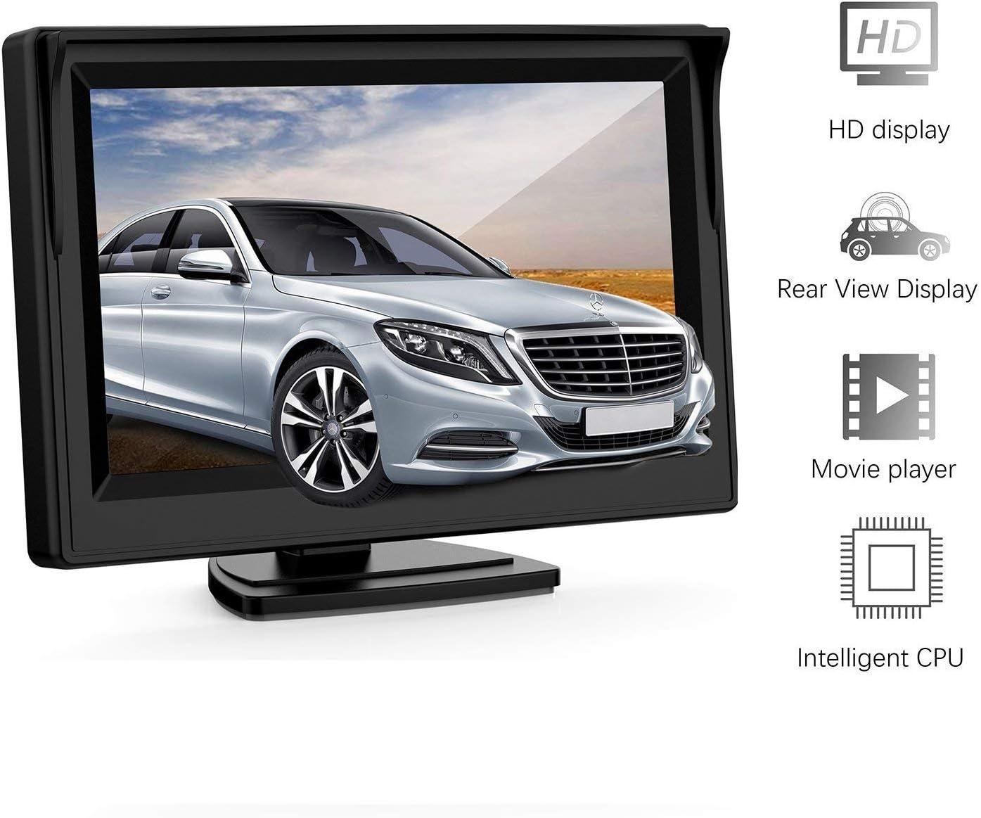 kit /écran LCD 5,0 pour Renault Trafic Opel Vivaro Nissan Primastar Fiat Talento 2014-2019 cam/éra de recul arri/ère Cam/éra de recul HD 3/ème feu de freinage