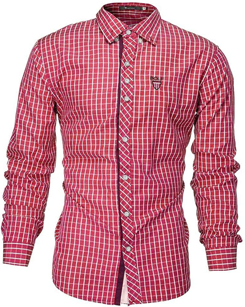 Mens Summer t Shirts Short Sleeve,Tronet Men Striped Cotton Linen Long Sleeve Button T Shirt Blouse Fit Slim Top