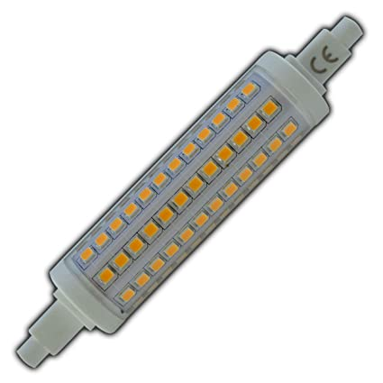 R7s LED Strahler 10 Watt rund dimmbar warmweiß 118mm Leuchtmittel Lampe Halogen j118 Fluter Brenner Scheinwerfer Flutlicht