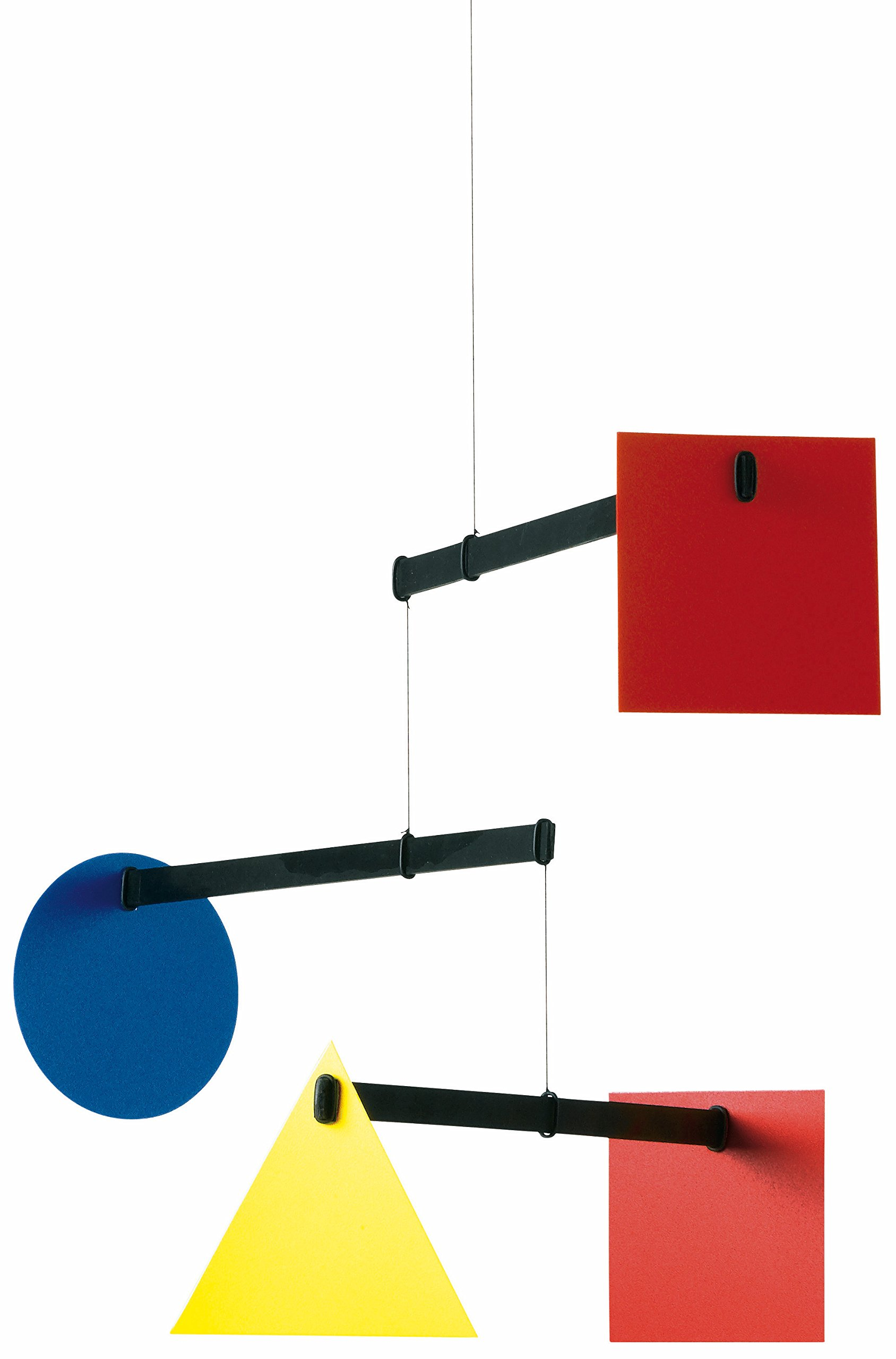Flensted Mobiles Bauhaus Hanging Mobile - 26 Inches Beech Wood