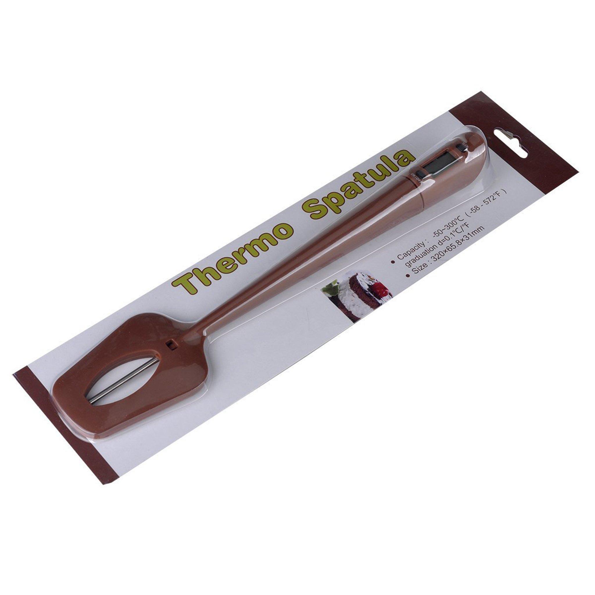 JIAYE Food Grade Silicone/Nylon Spatula Digital Thermometer Scraper for Chocolate Jams Food Cooking Baking BBQ by JIAYE INC (Image #5)