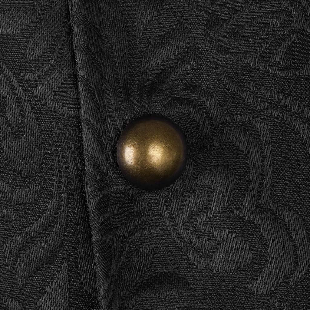 IPOTCH Gilet da Uomo in Maglia Damascato Stile Gotico Steampunk