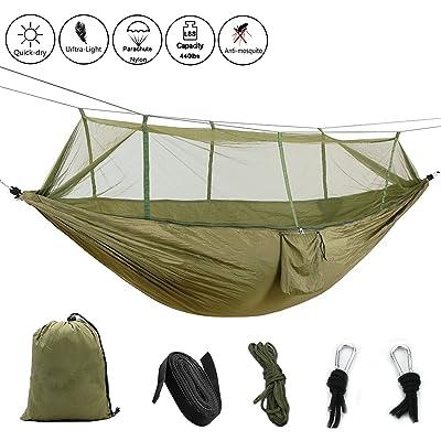 Camping Hamac avec moustiquaire de jardin à suspendre en nylon Lit ...