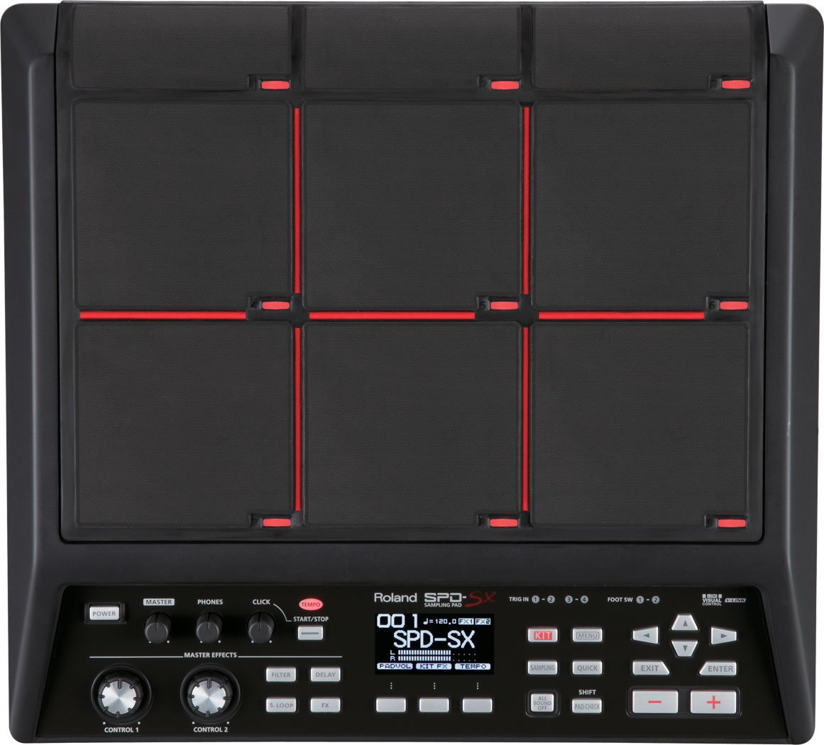 Roland Percussion Sampling Pad with 4GB Internal Memory, black (SPD-SX) by Roland
