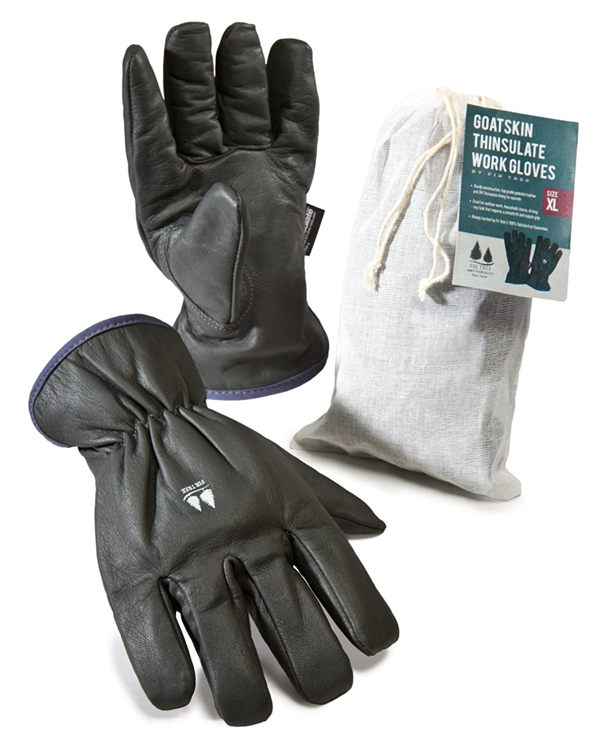 Insulated leather work gloves amazon - Amazon Com Insulated Work Gloves Dark Grey Goatskin Leather Gloves Lined With 3m Thinsulate For Men And Women See Size Chart Pictured At Left