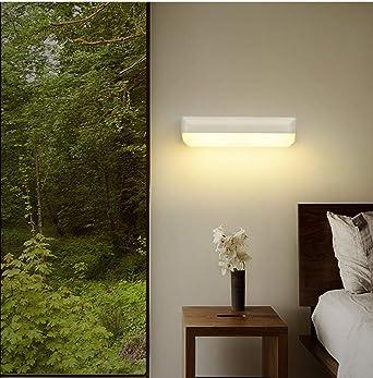 Lámpara de pared minimalista moderna iluminación de una sola cabeza balcón escalera exterior@Trompeta de doble pared_Blanco cálido: Amazon.es: Iluminación