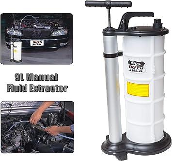 Autojack 9L Vakuum /Öl Fluid Extractor Transfer Pumpe Auto Kraftstoff-Benzin Wasser manuell