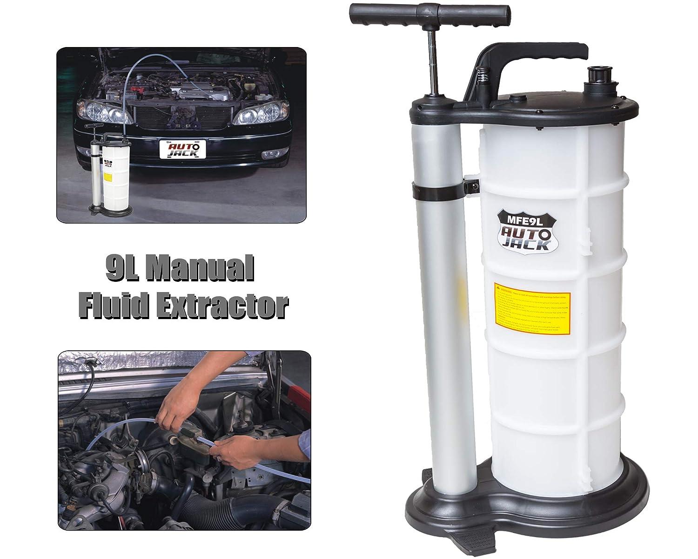 Autojack - Bomba extractora de Aceite al vacío de 9 litros para Coche, Combustible, refrigerante, Manual de Agua: Amazon.es: Coche y moto