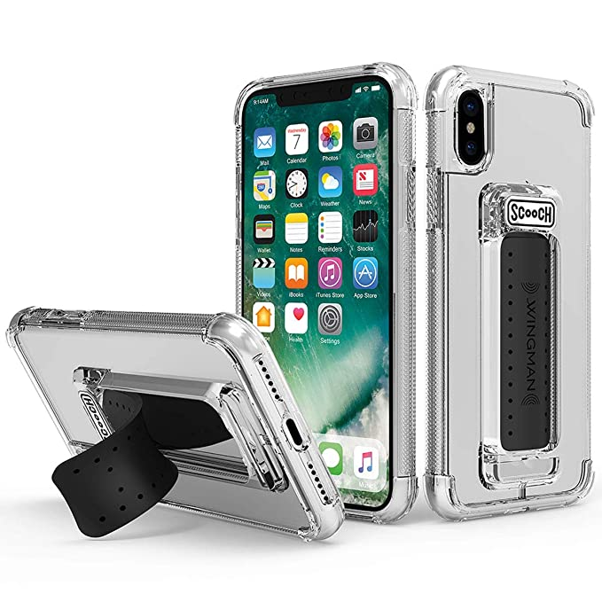 separation shoes 5cdf9 d8526 Scooch Wingman Case for iPhone Xs Max (Clear)