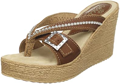 Sbicca Women's Horizon Thong Sandal,Light Brown,6 ...