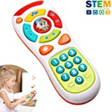 HOMOFY Baby Remote Control Toys with Multi-Function,Lights and Music,Click and Count Remote Best Gifts for Early Educational Toys for 1 23 Year Old,Boys and Girls Gifts