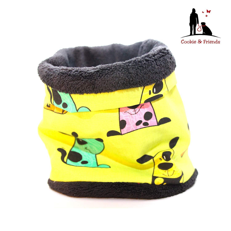 Hundeloop'Dogs -Green', Schal fü r Hunde, wunderbar warm und weich