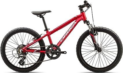 ORBEA Bicicleta para niños MX 20 XC Pulgadas (7 velocidades MTB Aluminio de Ciclismo de Montaña Juvenil Suspensión, i009, Color Rojo, tamaño Talla única: Amazon.es: Deportes y aire libre