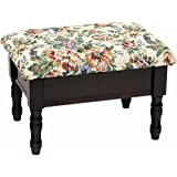 Frenchi Home Furnishing Footstool with Storage, Cherry