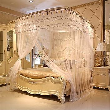 Lieblich WanJiaMenu0027Shop Drei Tür Prinzessin Moskitonetz Doppelbett Vorhänge  Schlafvorhang Bett Baldachin Net Voll Königin King